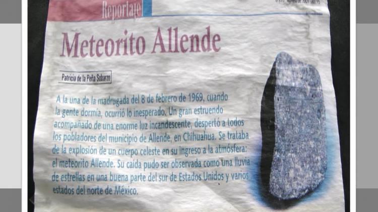 Allende, la capsula del tiempo que cayó en México hace 50 años