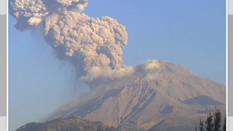 Popocatépetl no se está quieto: así fue la enorme fumarola de ayer por la tarde