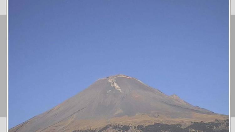 Popocatépetl registra 155 exhalaciones en las últimas horas