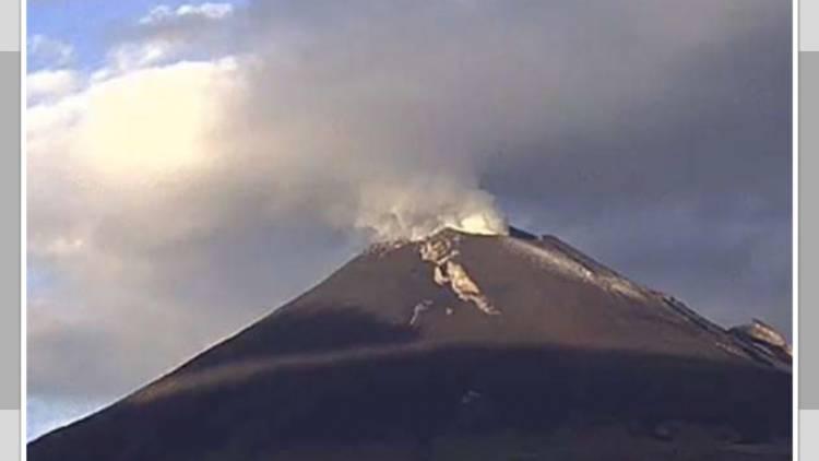 Reduce volcán Popocatépetl su actividad