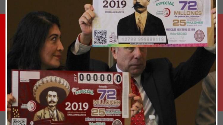 Estampilla, presea y billete de lotería para homenajear a Emiliano Zapata