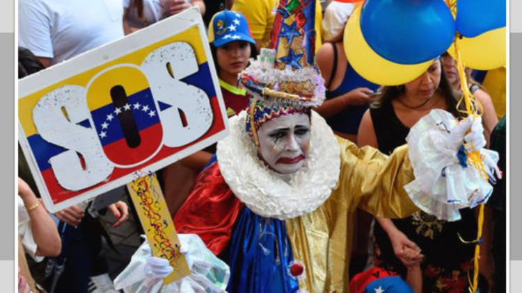 Azul y Rojo los colores en pugna en Venezuela