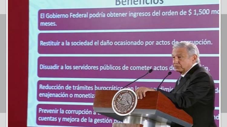 """AMLO anuncia creación de """"Instituto para Devolverle al Pueblo lo Robado"""""""