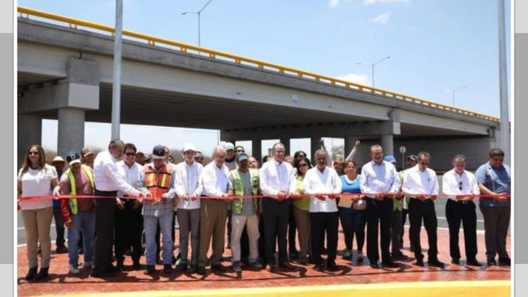 Inauguran Quirino y Jiménez Espriú distribuidor vial