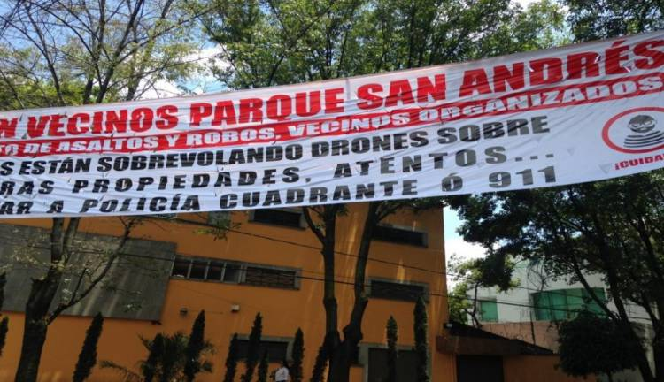 Vecinos de Coyoacán denuncian uso de drones para robar casas