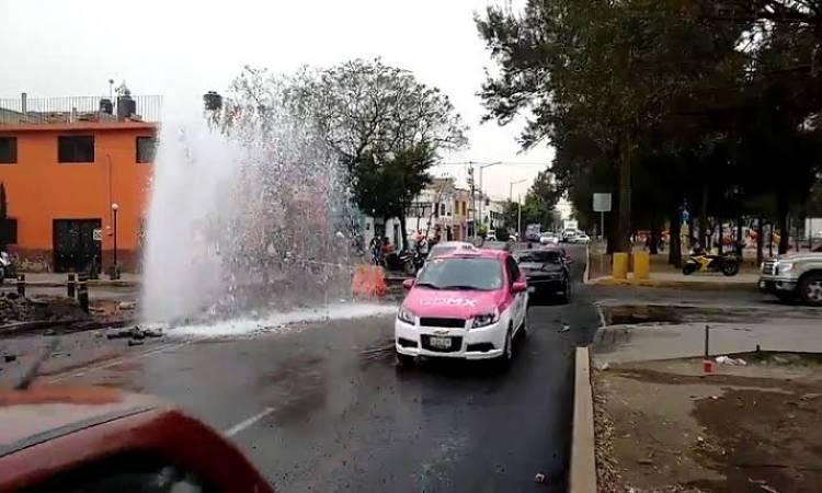 Pierde la ciudad 40 por ciento del agua por fugas en redes: Sacmex