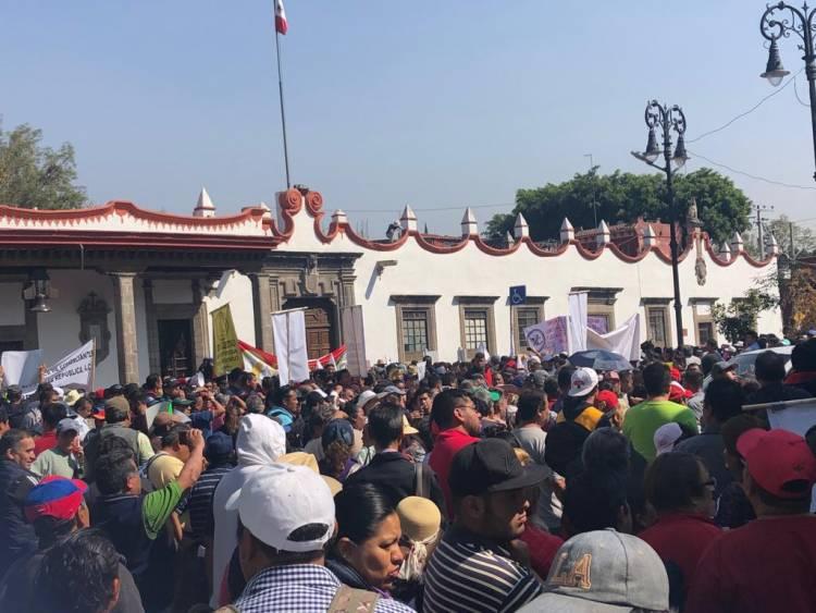 Comerciantes protestan en la alcaldía Coyoacán