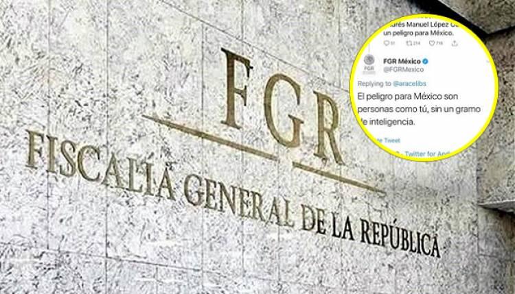 FGR se deslinda de polémico tuit contra usuaria de Twitter que criticó a AMLO