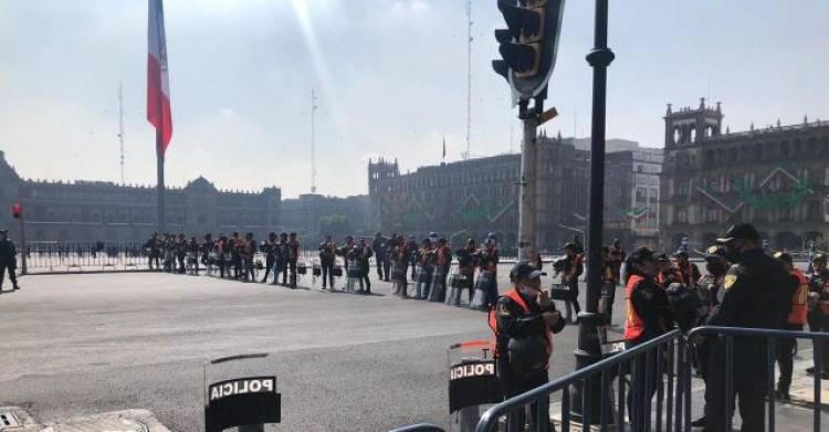 Nivel de violencia fijará ingreso de manifestantes al Zócalo: Sheinbaum