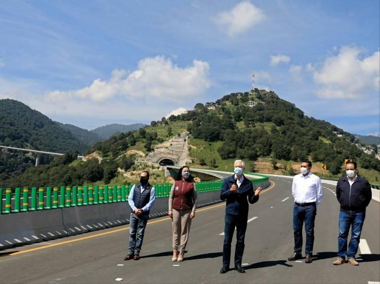 Con nueve años de retraso inauguran autopista Toluca-Naucalpan
