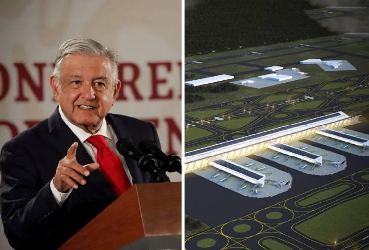 Nuevo aeropuerto abrirá en marzo de 2022 AMLO