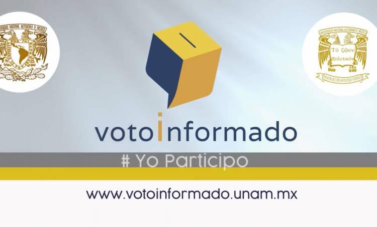 Lanzan INE y UNAM la plataforma 'Voto Informado'